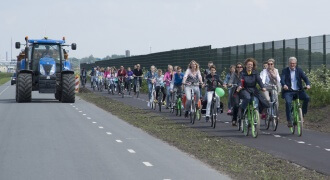 Opening fietspad Skimerwei
