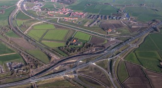 Haak om Leeuwarden: Hoogtefoto Werpsterhoek