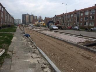 Asfalteren parallelweg Valeriusstraat