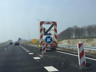 Werkzaamheden bij afrit 23 Haak om Leeuwarden