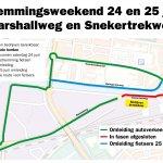 Werkzaamheden Marshallweg en Snekertrekweg