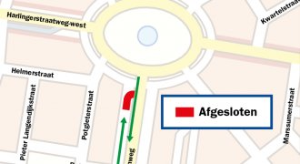 Stremming parallelweg Heliconweg Leeuwarden Vrij-Baan