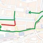 Lange Markstraat gestremd door hijswerkzaamheden Leeuwarden Vrij-Baan