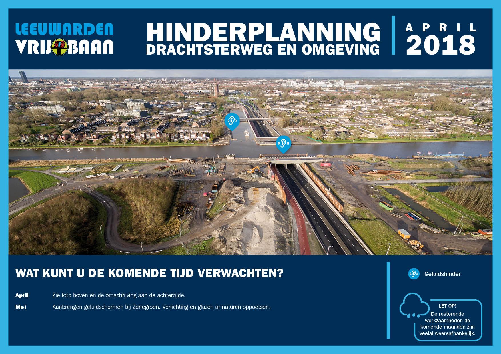 Hinderplanning april 2018 - Leeuwarden Vrij-Baan