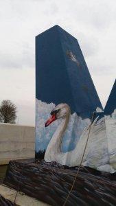 Graffiti pijlers
